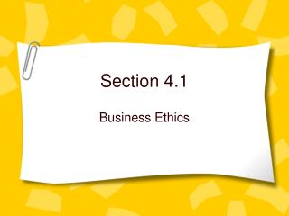 Section 4.1