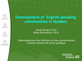 Development of  English-speaking communities in Québec