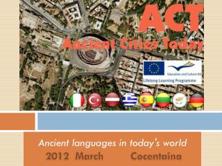 Ancient languages in today's world  2012  March         Cocentaina