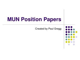MUN Position Papers