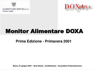 Monitor Alimentare DOXA
