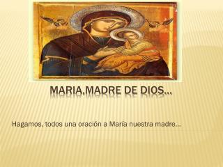 MARIA,MADRE DE DIOS…