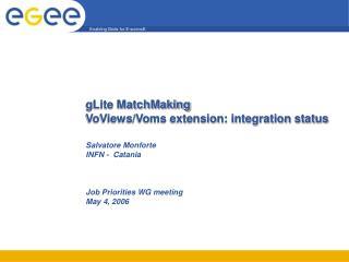 gLite MatchMaking VoViews/Voms extension: integration status