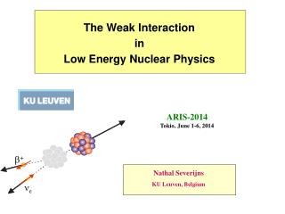 The Weak Interaction in Low Energy Nuclear  Physics