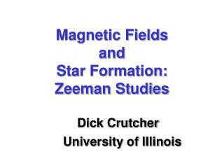 Magnetic Fields and Star Formation: Zeeman Studies