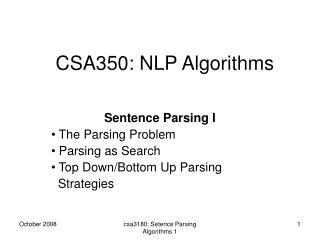CSA350: NLP Algorithms