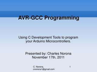 AVR-GCC Programming
