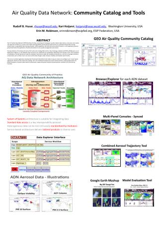 Air Quality Data Network:  Community Catalog and Tools