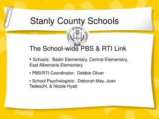 The School-wide PBS & RTI Link