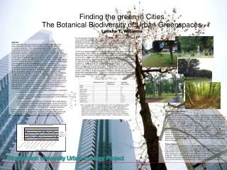 Binghamton University Urban Ecology Project