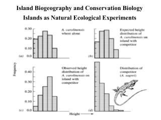 Island Biogeography and Conservation Biology Islands as Natural Ecological Experiments