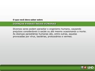 DOEN�AS PARASIT�RIAS HUMANAS