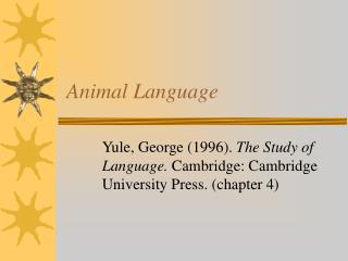 Animal Language