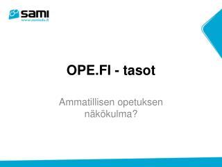OPE.FI - tasot