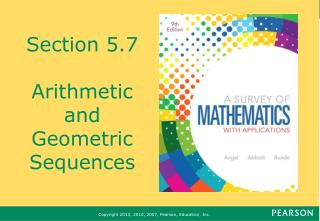 Section 5.7 Arithmetic and Geometric Sequences
