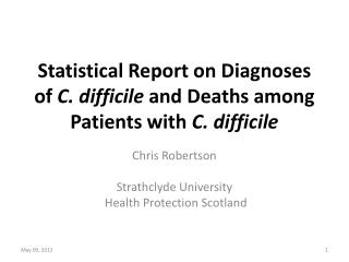 Statistical Report on Diagnoses of  C. difficile  and Deaths among Patients with  C. difficile