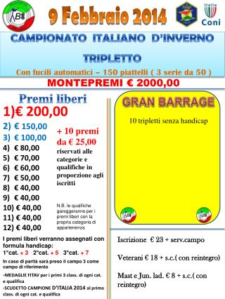 € 200,00 €  150,00  € 100,00 € 80,00 € 70,00 € 60,00 € 50,00 € 40,00 € 40,00  € 40,00  € 40,00