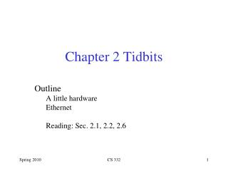 Chapter 2 Tidbits