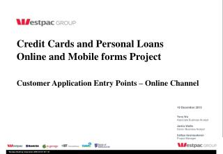 Credit Cards and Personal Loans Online and Mobile forms Project