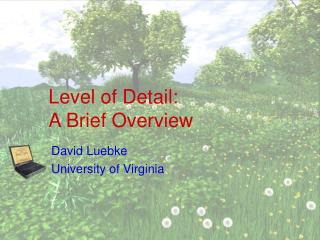 Level of Detail: A Brief Overview