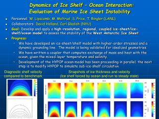 Dynamics of Ice Shelf – Ocean Interaction:  Evaluation of Marine Ice Sheet Instability