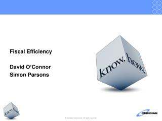 Fiscal Efficiency David O'Connor Simon Parsons