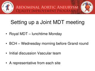 Setting up a Joint MDT meeting