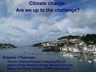Climate change: Are we up to the challenge?