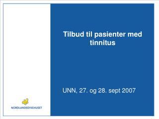 Tilbud til pasienter med tinnitus