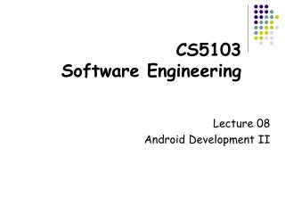 CS5103  Software Engineering