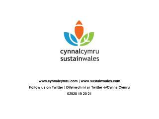 cynnalcymru|sustainwales