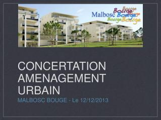 CONCERTATION AMENAGEMENT URBAIN
