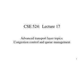 CSE 524:  Lecture 17