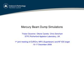 Mercury Beam Dump Simulations
