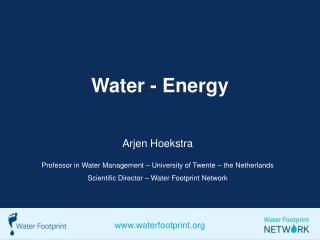 Water - Energy