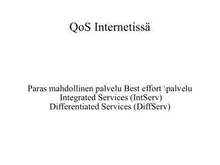 QoS Internetissä
