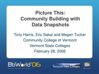 Picture This: Community Building with  Data Snapshots