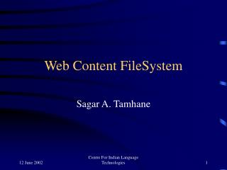 Web Content FileSystem