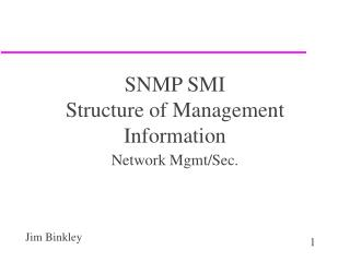SNMP SMI Structure of Management Information
