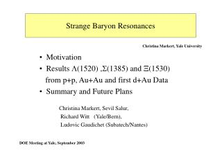 Strange Baryon Resonances