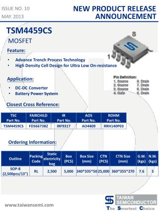 Advance Trench Process  Technology High Density Cell Design for Ultra Low On-resistance
