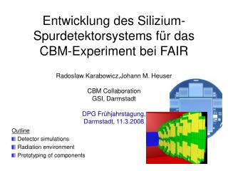 Entwicklung des Silizium-Spurdetektorsystems f �r das CBM -Experiment bei FAIR