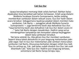 Cak Gus Dur