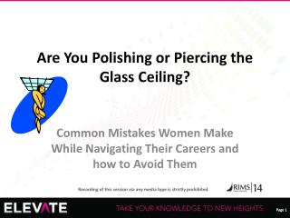 Are You Polishing or Piercing the Glass Ceiling?