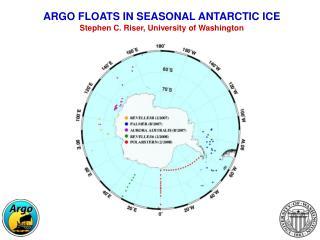 ARGO FLOATS IN SEASONAL ANTARCTIC ICE