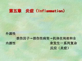 第五章  炎症( Inflammation )