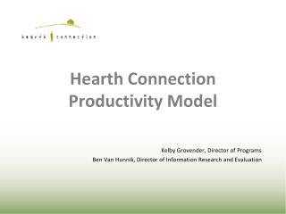 Hearth Connection Productivity Model