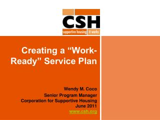 "Creating a ""Work-Ready"" Service Plan"