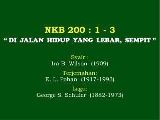 NKB 200 : 1 - 3