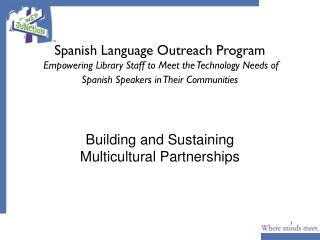 Building and Sustaining Multicultural Partnerships